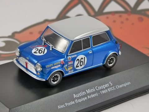 AUSTIN MINI COOPER S BTCC 1969 - 1/43 scale partwork model - Atlas Editions