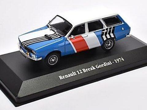 1974 RENAULT 12 BREAK GORDINI 1/43 scale model Atlas Editions