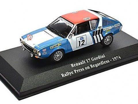 1974 RENAULT 17 GORDINI Rallye 1/43 scale model Atlas Editions