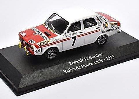 1973 RENAULT 12 GORDINI Rallye Monte Carlo 1/43 scale model - Atlas Editions