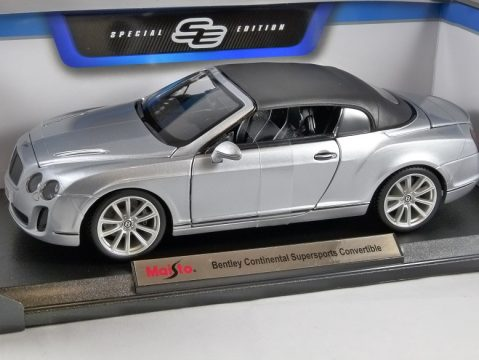 BENTLEY CONTINENTAL SUPERSPORTS CONVERTIBLE 1/18 scale model by MAISTO