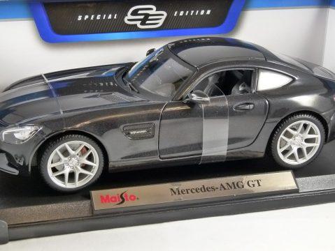 MERCEDES AMG GT in Dark Grey 1/18 scale model by MAISTO