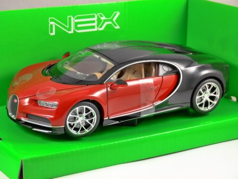 BUGATTI CHIRON in Red 1/24 scale model by WELLY