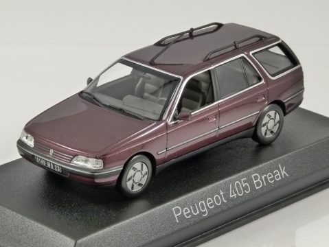 PEUGEOT 405 ESTATE in Alhambra Red 1/43 scale model by Norev