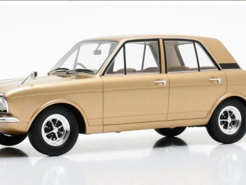 1970 FORD CORTINA Mk2 1600E in Gold Metallic 1/18 scale model by Cult Scale Models