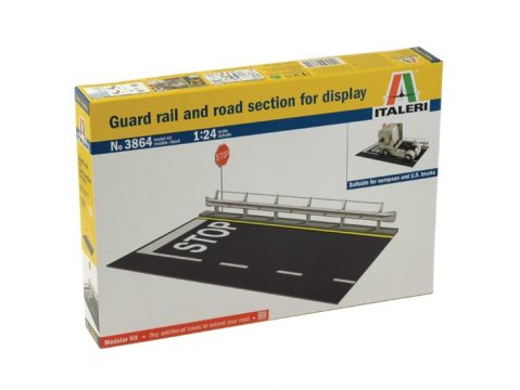 GUARD RAIL BARRIER & ROAD SECTION - 3864 - 1/24 scale plastic kit by ITALERI