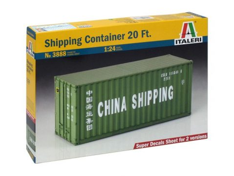 SHIPPING CONTAINER 20Ft - 3888 - 1/24 scale plastic kit by ITALERI