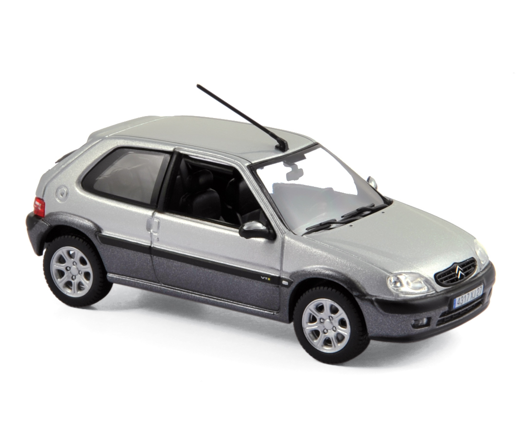 2001 citroen saxo vts in silver 1 43 scale model by norev. Black Bedroom Furniture Sets. Home Design Ideas
