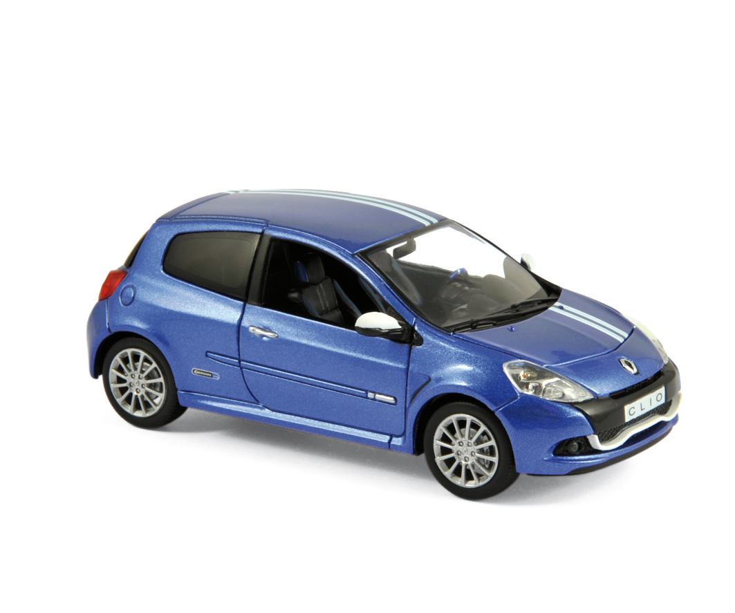 2009 renault clio rs gordini in blue 1 43 scale model by norev. Black Bedroom Furniture Sets. Home Design Ideas