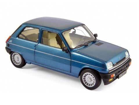 1981 RENAULT 5 ALPINE TURBO in Dark Blue 1/18 scale model by Norev