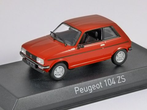 1979 PEUGEOT 104 ZS in Red 1/43 scale model by Norev
