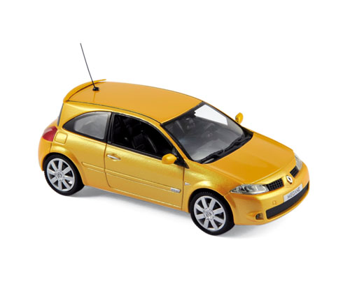 2004 RENAULT MEGANE RS in Yellow 1/43 scale model by Norev