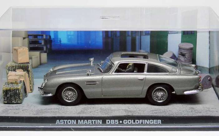 ASTON MARTIN DB Goldfinger Scale Model James Bond - Aston martin db5