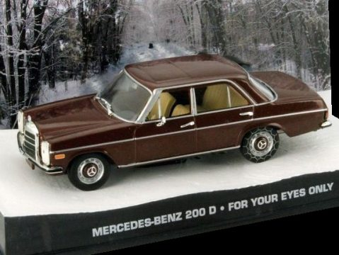 MERCEDES BENZ 200D - For Your Eyes Only - 1/43 scale model James Bond