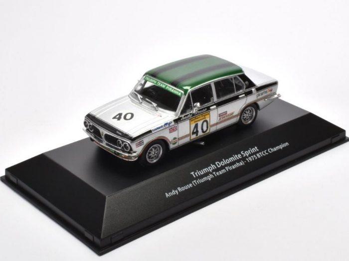 TRIUMPH DOLOMITE SPRINT BTCC 1975 – Andy Rouse – 1/43 scale model – Atlas Editions