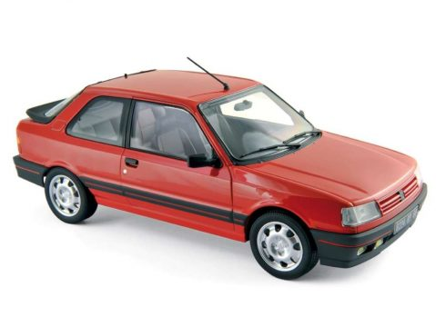 1988 PEUGEOT 309 GTi in Red - 1/18 scale model by Norev