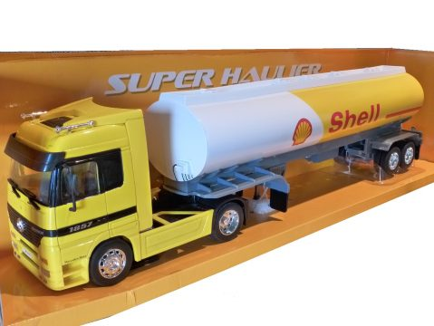MERCEDES BENZ ACTROS SHELL PETROL TANKER 1/32 scale model by WELLY