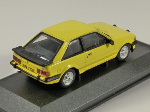FORD ESCORT XR3 in Yellow - 1/43 scale model by Corgi