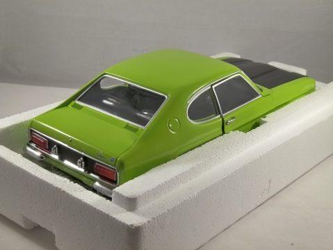 1970 FORD CAPRI Mk1 RS2600 in Green / Black 1/18 scale model by Minichamps