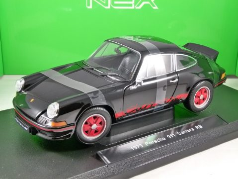 1973 PORSCHE 911 CARRERA RS in Black 1/18 scale model by WELLY