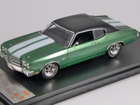 1970 CHEVROLET CHEVELLE SS in Green 1/43 scale model by PREMIUM X