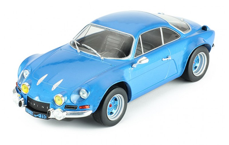 1973 renault alpine a110 in blue 1 18 scale model by ixo. Black Bedroom Furniture Sets. Home Design Ideas