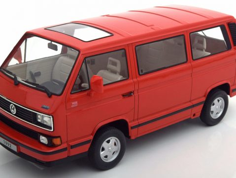 VOLKSWAGEN T3 / T25 Bus Last Edition in Red 1/18 scale model by KK Scale Models