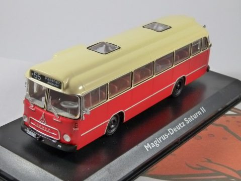 MAGIRUS DEUTZ SATURN II 1/72 scale model Coach Collection - Atlas Editions