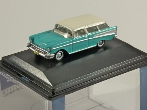1957 CHEVROLET NOMAD in Surf Green 1/87 scale model OXFORD DIECAST