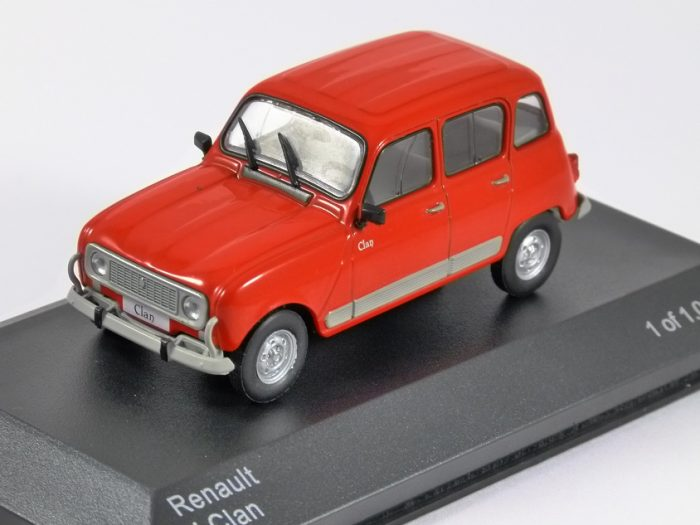 RENAULT 4 CLAN in Red 1/43 scale model by Whitebox