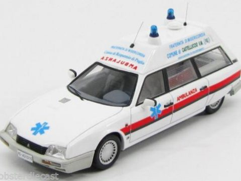 1986 CITROEN CX TGE BREAK AMBULANCE in White 1/43 scale model by KESS