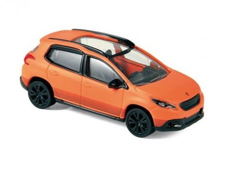 PEUGEOT 2008 in Orange - scale model by Norev