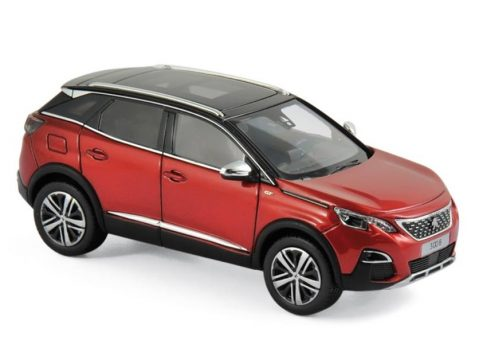 2016 PEUGEOT 3008 GT in Red 1/43 scale model by Norev