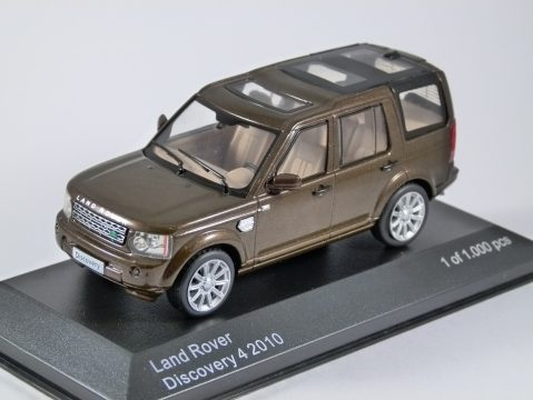 2010 LAND ROVER DISCOVERY 4 in Brown 1/43 scale model by Whitebox