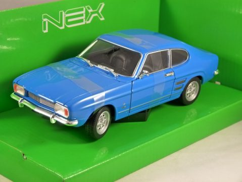1969 FORD CAPRI Mk1 in Blue 1/24 scale model by Welly