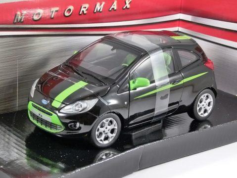 2008 FORD KA in Black - 1/24 scale model by MotorMax