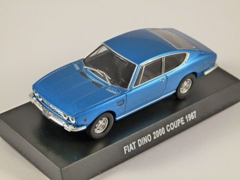 1967 FIAT DINO 2000 COUPE in Blue 1/43 scale model
