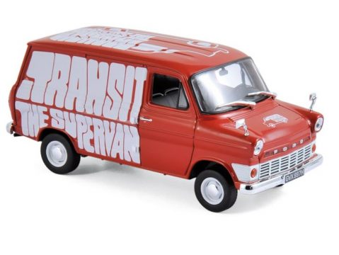 1965 FORD TRANSIT Mk1 SUPERVAN in Red 1/43 scale model by Norev