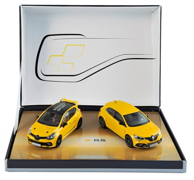 2017 RENAULTSPORT 2 Car Set - Renault Megane RS & Clio 16 RS - 1/43 scale model by Norev
