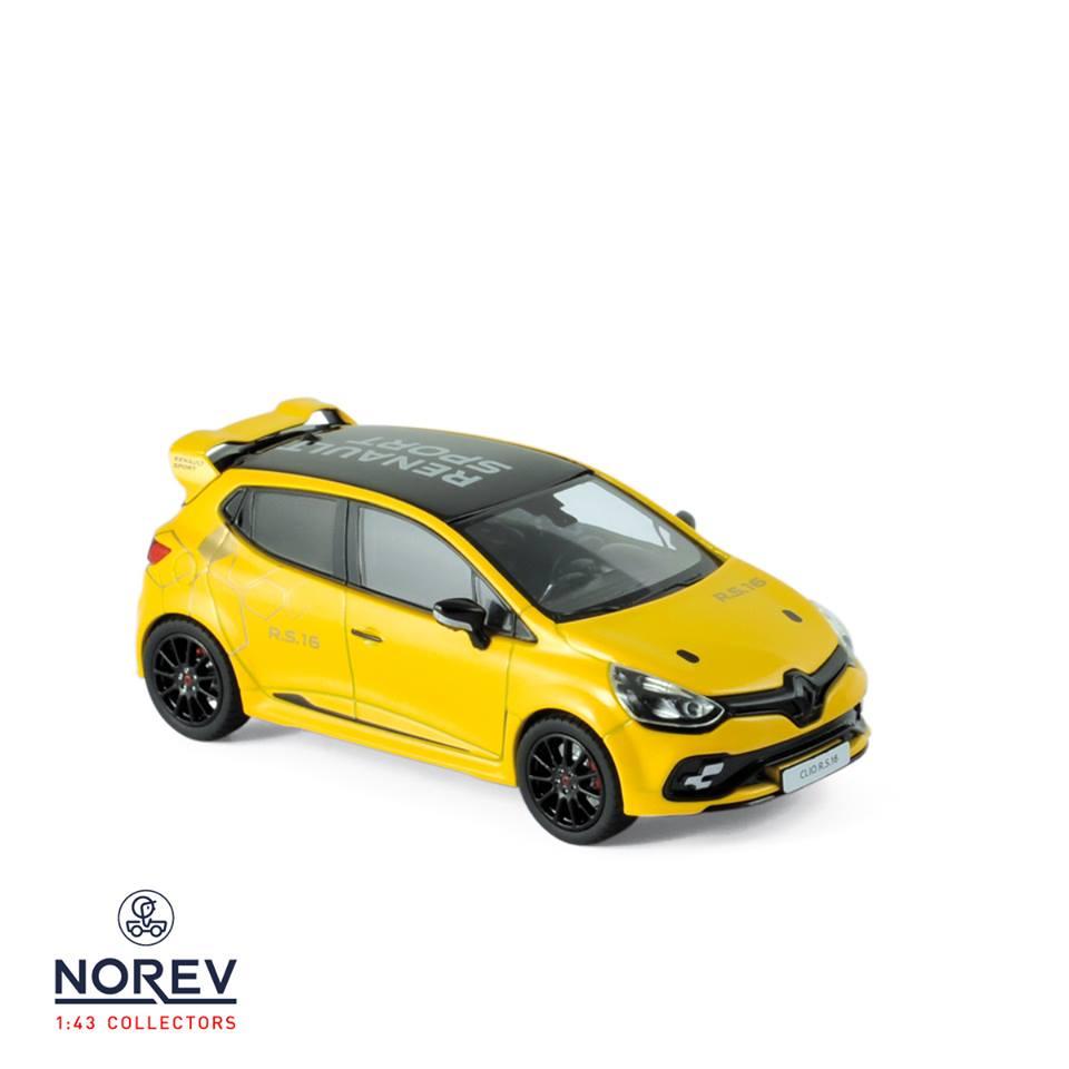 2017 renaultsport 2 car set renault megane rs clio 16 rs 1 43 scale model by norev. Black Bedroom Furniture Sets. Home Design Ideas