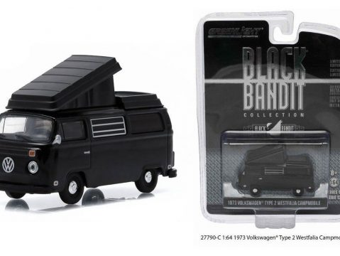 1973 VOLKSWAGEN T2 WESTFALIA CAMPER Black Bandit - 1/64 scale model GREENLIGHT