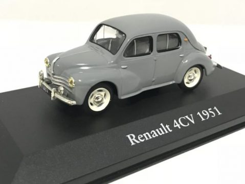 1951 RENAULT 4CV in Grey - 1/43 scale partwork model - Atlas Editions