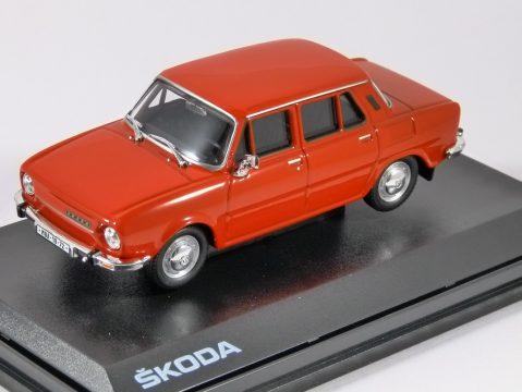 1973 SKODA 110L in Pepper Red 1/43 scale model ABREX