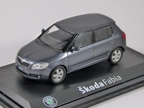 SKODA FABIA II in Anthracite Grey 1/43 scale model ABREX