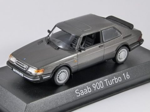 1991 SAAB 900 TURBO 16 in Grey 1/43 scale model by Norev