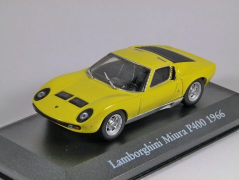 1966 LAMBORGHINI MIURA P400 in Yellow 1/43 scale partwork model - Atlas Editions