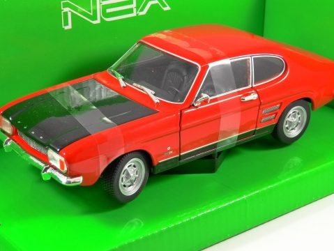 1969 FORD CAPRI Mk1 in Red / Black 1/24 scale model by WELLY