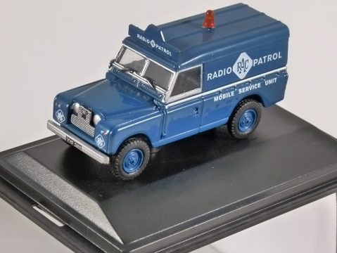 LAND ROVER S2 LWB Hard Top - RAC - 1/76 scale model OXFORD DIECAST
