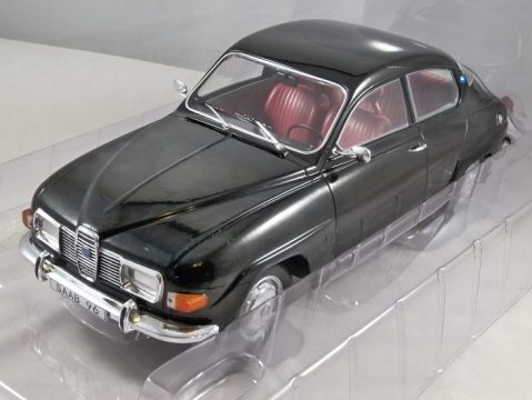 1971 SAAB 96 V4 in Black 1/18 scale model by MCG