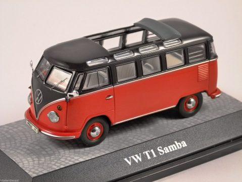 VOLKSWAGEN T1 SAMBA in Red / Black 1/43 model PREMIUM CLASSIXXS